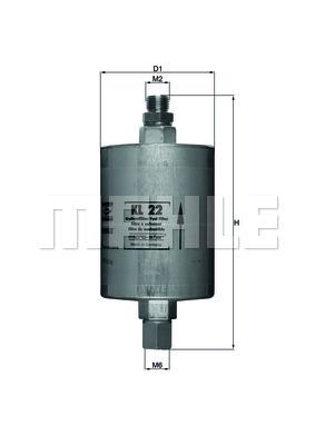 Filtre a carburant KNECHT KL 22 (X1)
