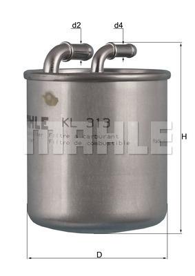 Filtre a carburant KNECHT KL 313 (X1)