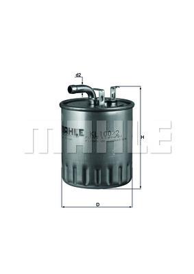Filtre a carburant KNECHT KL 100/2 (X1)