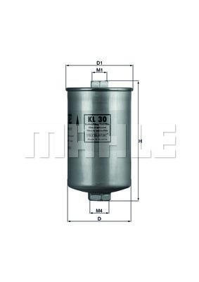 Filtre a carburant KNECHT KL 30 (X1)