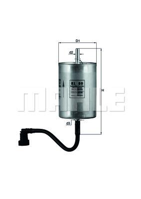 Filtre a carburant KNECHT KL 80 (X1)
