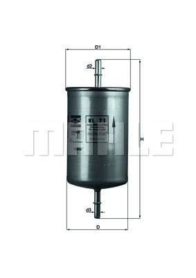 Filtre a carburant KNECHT KL 71 (X1)