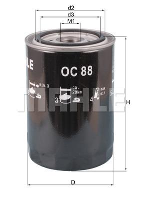 Filtre a huile KNECHT OC 88 (X1)