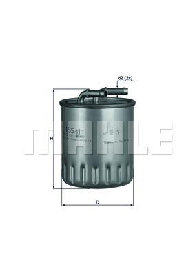 Filtre a carburant KNECHT KL 155/1 (X1)