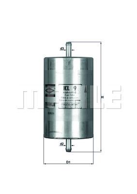 Filtre a carburant KNECHT KL 9 (X1)