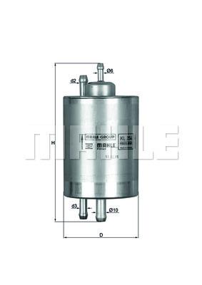 Filtre a carburant KNECHT KL 254 (X1)