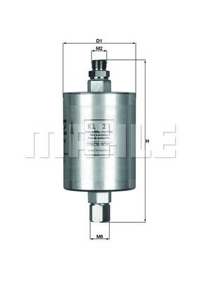 Filtre a carburant KNECHT KL 21 (X1)