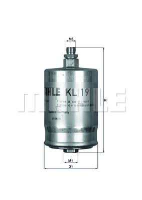 Filtre a carburant KNECHT KL 19 (X1)