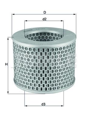 Filtre a air KNECHT LX 186 (X1)