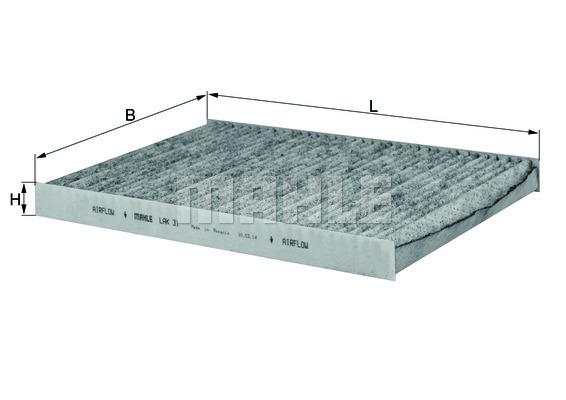 Filtre d'habitacle KNECHT LAK 31 (X1)
