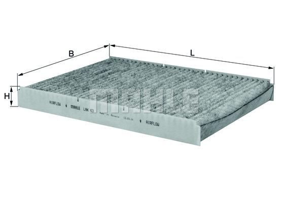 Filtre d'habitacle KNECHT LAK 63 (X1)