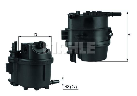Filtre a carburant KNECHT KL 779 (X1)