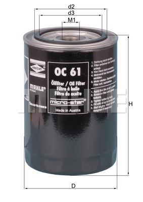 Filtre a huile KNECHT OC 61 (X1)