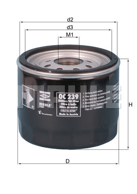 Filtre a huile KNECHT OC 239 (X1)