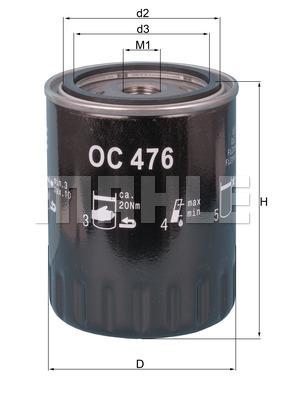Filtre a huile KNECHT OC 476 (X1)