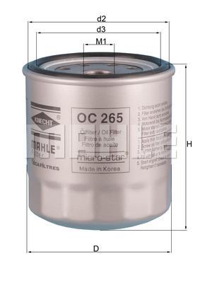 Filtre a huile KNECHT OC 265 (X1)
