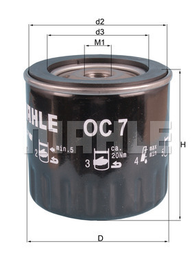 Filtre a huile KNECHT OC 7 (X1)