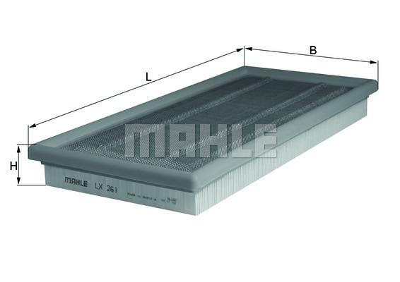 Filtre a air KNECHT LX 261 (X1)