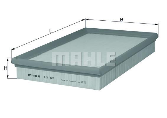 Filtre a air KNECHT LX 63 (X1)