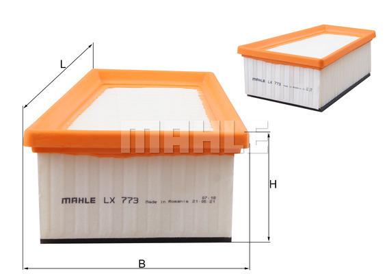 Filtre a air KNECHT LX 773 (X1)