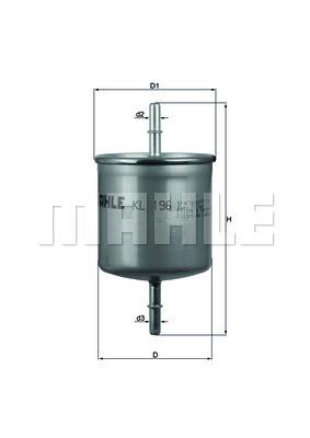 Filtre a carburant KNECHT KL 196 (X1)