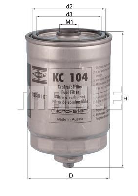 Filtre a carburant KNECHT KC 104 (X1)