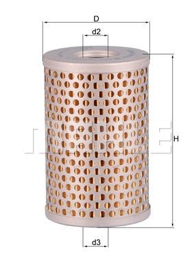 Filtre a huile de circuit hydraulique KNECHT HX 34 (X1)