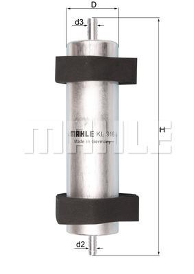 Filtre a carburant KNECHT KL 916 (X1)