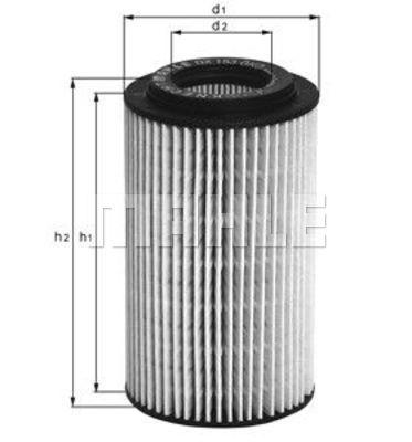 Filtre a huile KNECHT OX 153D3 (X1)