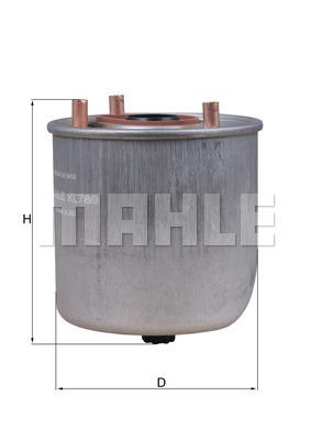 Filtre a carburant KNECHT KL 780 (X1)