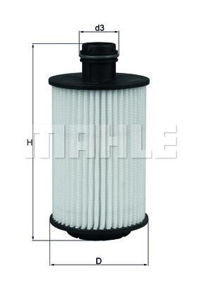 Filtre a huile KNECHT OX 1012D (X1)