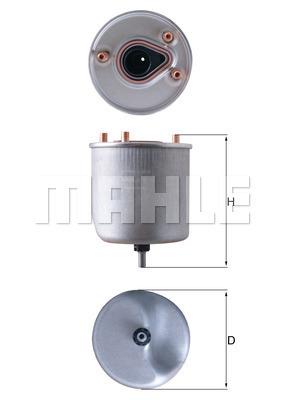 Filtre a carburant KNECHT KL 788 (X1)