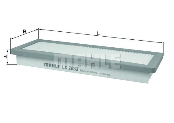 Filtre a air KNECHT LX 2033 (X1)