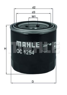 Filtre a huile KNECHT OC 1254 (X1)