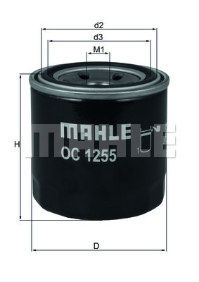 Filtre a huile KNECHT OC 1255 (X1)