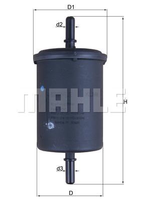 Filtre a carburant KNECHT KL 248 (X1)