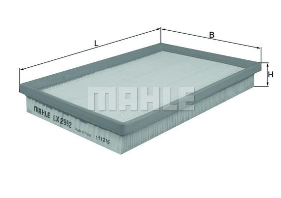 Filtre a air KNECHT LX 2992 (X1)