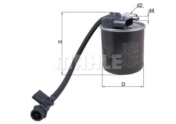 Filtre a carburant KNECHT KL 947 (X1)