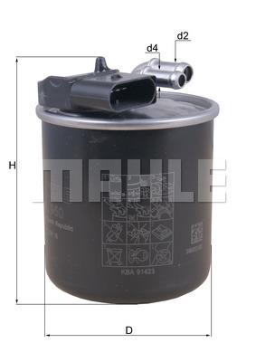 Filtre a carburant KNECHT KL 950 (X1)