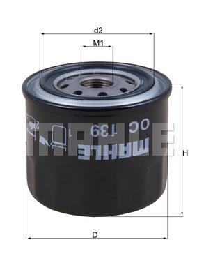 Filtre a huile KNECHT OC 139 (X1)