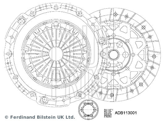 Kit d'embrayage BLUE PRINT ADB113001 (X1)