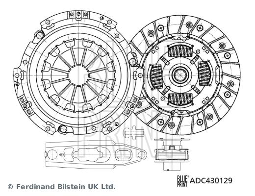 Kit d'embrayage BLUE PRINT ADC430129 (X1)