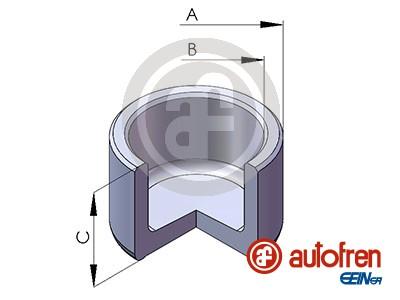 Piston etrier de frein AUTOFREN SEINSA D025130 (X1)