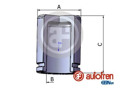Piston etrier de frein AUTOFREN SEINSA D025290 (X1)