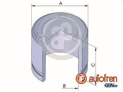 Piston etrier de frein AUTOFREN SEINSA D025322 (X1)
