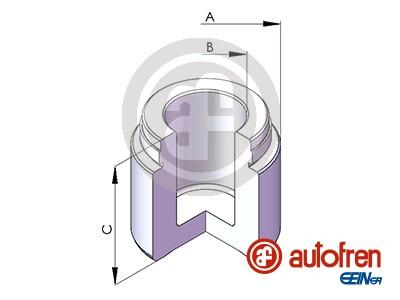 Piston etrier de frein AUTOFREN SEINSA D025347 (X1)