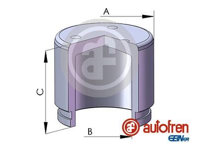 Piston etrier de frein AUTOFREN SEINSA D025381 (X1)