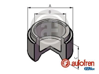 Piston etrier de frein AUTOFREN SEINSA D025519 (X1)