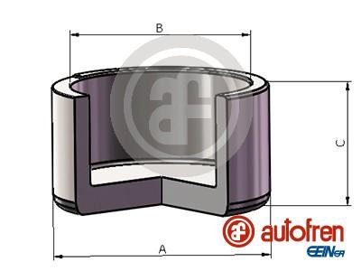Piston etrier de frein AUTOFREN SEINSA D025686 (X1)
