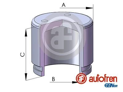 Piston etrier de frein AUTOFREN SEINSA D02572 (X1)